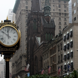 Trump Tower Clock on 5th Ave