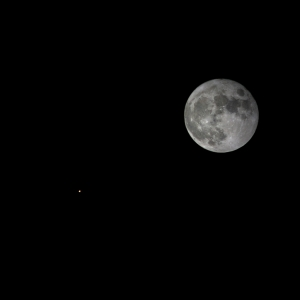 Full moon and Mars